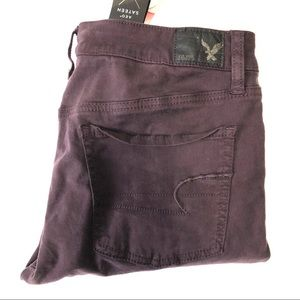 American Eagle Eggplant Jeggings  Size 10 R NWT